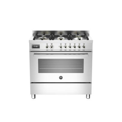 Bertazzoni PRO906MFESXT 90cm 'Professional Series' Dual Fuel Single Oven Range Cooker – Stainless Steel