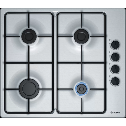 Bosch PBP6B5S80 60cm Gas Hob – Stainless Steel
