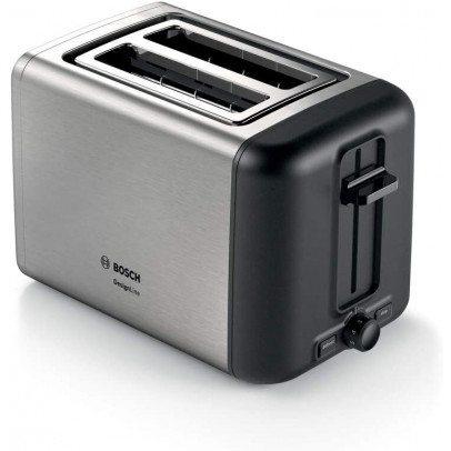 Bosch TAT3P420GB 2-Slice 'Design Line' Toaster – Stainless Steel