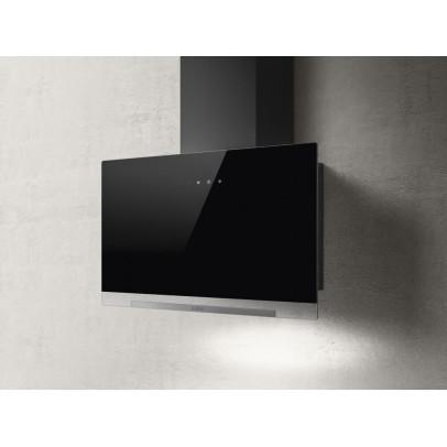 Elica Aplomb-BLK-60 60cm Vertical Chimney Hood – Black Glass