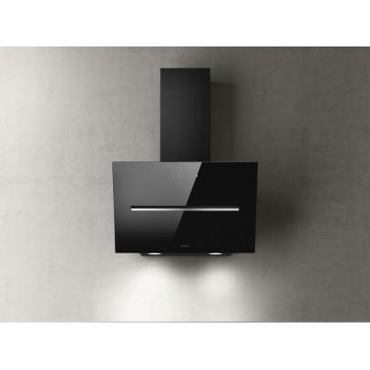 Elica SHY-BLK-60 60cm Angled Chimney Hood – Black Glass