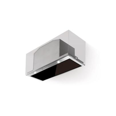 Faber Inca Lux Glass EV8 X/BK A52 52cm Canopy Hood – Black Glass