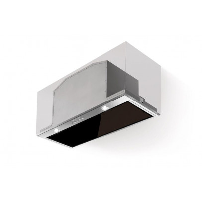 Faber Inca Lux Glass EV8 X/BK A70 70cm Canopy Hood – Black Glass