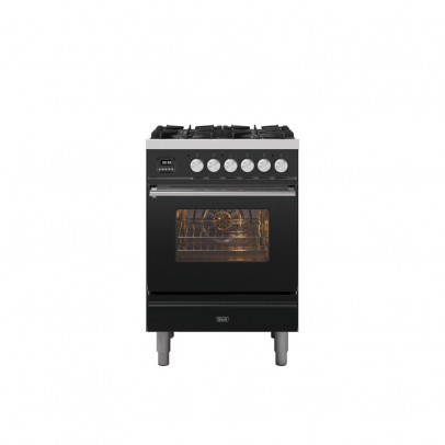 Ilve P06WE3/MG 60cm Roma Dual Fuel Mini Range with 4 Gas Burners – Matt Graphite