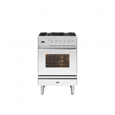Ilve P06WE3/SS 60cm Roma Dual Fuel Mini Range with 4 Gas Burners – Stainless Steel