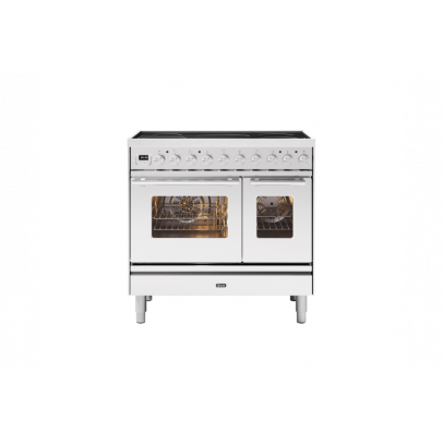 Ilve PDI09WE3/SS 90cm Roma Induction Double Oven Range Cooker with 5 Induction Zones – Stainless Steel