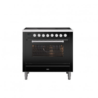 Ilve PI09WE3/MG 90cm Roma Dual Fuel Single Oven Range Cooker with 5 Induction Zones – Matt Graphite