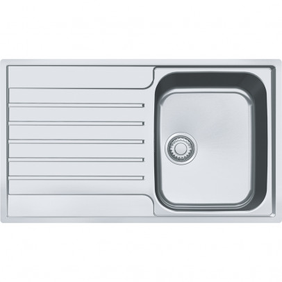 Franke AGX611-86 86cm 'Argos' Single Bowl Inset Sink with Reversible Drainer – Stainless Steel