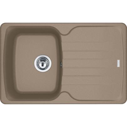 Franke AZG611-78OY 78cm 'Antea' Single Bowl Fragranite Inset Sink with Reversible Drainer – Oyster