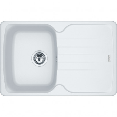 Franke AZG611-78PW 78cm 'Antea' Single Bowl Fragranite Inset Sink with Reversible Drainer – Polar White