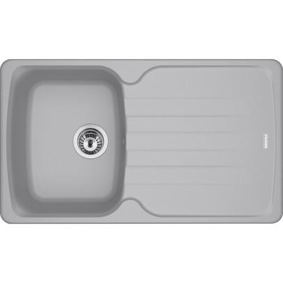 Franke AZG611-78ST 78cm 'Antea' Single Bowl Fragranite Inset Sink with Reversible Drainer – Stone Grey
