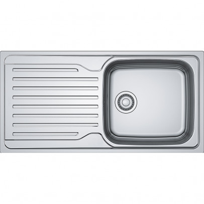Franke AZN611-100 100cm 'Antea' Single Bowl Inset Sink with Reversible Drainer – Stainless Steel