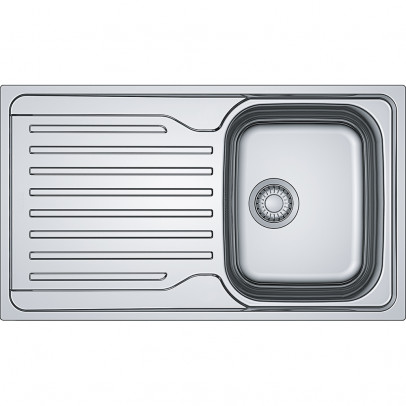 Franke AZN611-86 86cm 'Antea' Single Bowl Inset Sink with Reversible Drainer – Stainless Steel