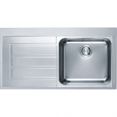 Franke EOX611LH 100cm 'Epos' Single Bowl Inset Sink with Left Hand Drainer – Stainless Steel