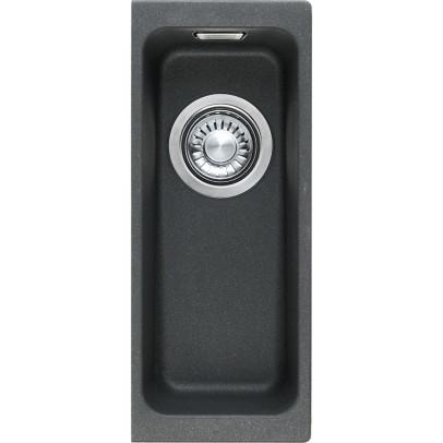 Franke KBG110-16ON 18.7cm 'Kubus' 0.5 Bowl Fragranite Undermount Sink – Onyx