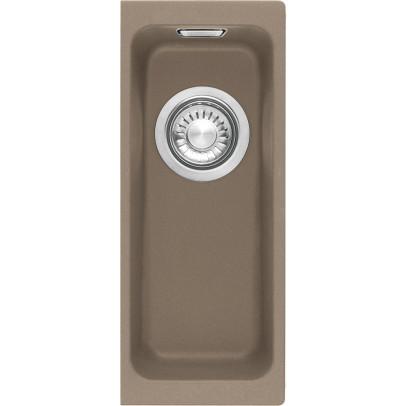 Franke KBG110-16OY 18.7cm 'Kubus' 0.5 Bowl Fragranite Undermount Sink – Oyster