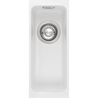 Franke KBG110-16PW 18.7cm 'Kubus' 0.5 Bowl Fragranite Undermount Sink – Polar White