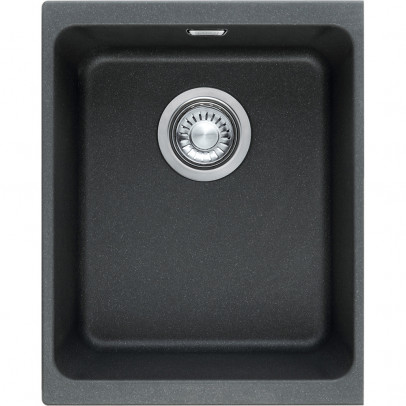 Franke KBG110-34ON 38cm 'Kubus' Single Bowl Fragranite Undermount Sink – Onyx