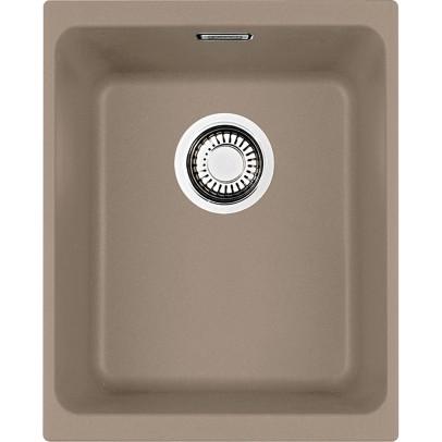 Franke KBG110-34OY 38cm 'Kubus' Single Bowl Fragranite Undermount Sink – Oyster