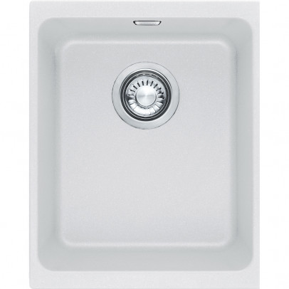 Franke KBG110-34PW 38cm 'Kubus' Single Bowl Fragranite Undermount Sink – Polar White
