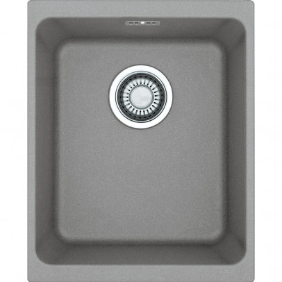 Franke KBG110-34ST 38cm 'Kubus' Single Bowl Fragranite Undermount Sink – Stone Grey