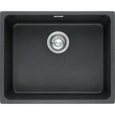 Franke KBG110-50ON 54cm 'Kubus' Single Bowl Fragranite Undermount Sink – Onyx