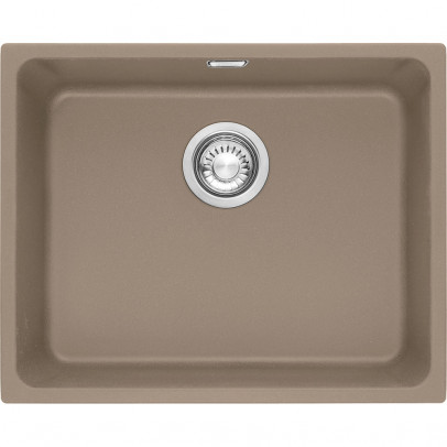 Franke KBG110-50OY 54cm 'Kubus' Single Bowl Fragranite Undermount Sink – Oyster