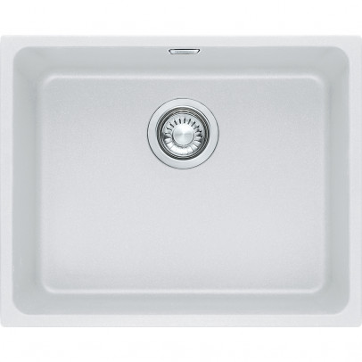 Franke KBG110-50PW 54cm 'Kubus' Single Bowl Fragranite Undermount Sink – Polar White