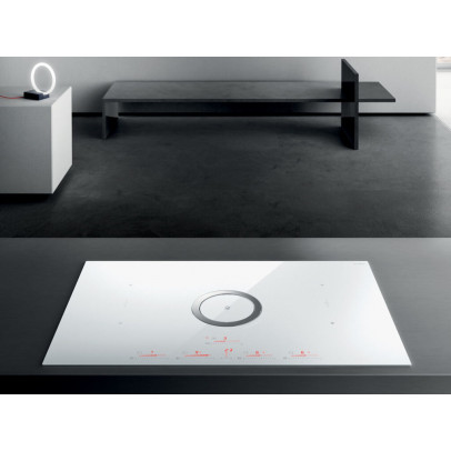 Elica NT-SWITCH-WH-DO 83cm 'NikolaTesla' Venting Induction Hob – White – Duct Out Version