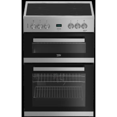 Beko EDC633S 60cm Double Oven Electric Cooker – Silver