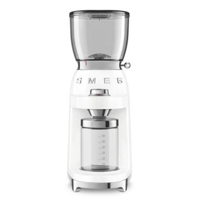 Smeg CGF01WHUK 150W Retro Coffee Grinder – White