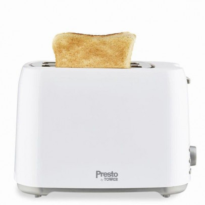 Tower PT20055WHT 2-Slice 'Presto' Toaster – White
