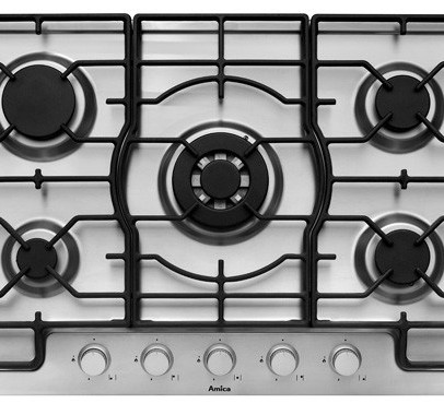 Amica PGZ7311 80cm Gas Hob – Stainless Steel