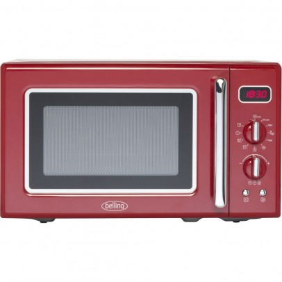 Belling FMR2080S Retro Solo Microwave – Red