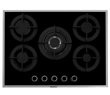 Blomberg AAJGCB63515X 70cm Gas Hob – Black Glass