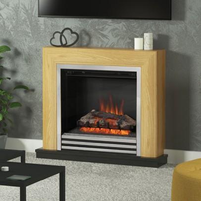 Be Modern 34″ Devonshire Electric Fire Suite – Natural Oak