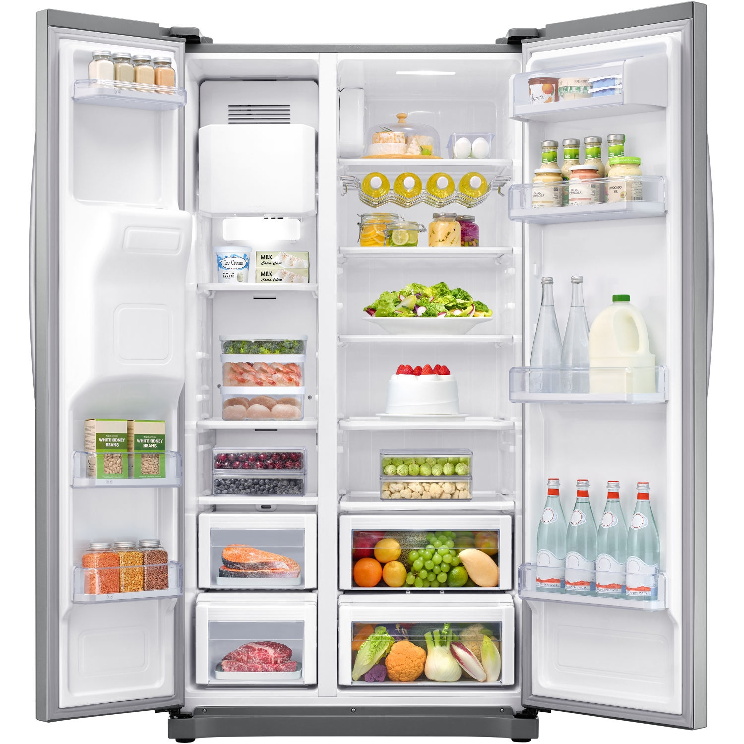 Samsung Rs50n3513sl 91 2cm Plumbed Frost Free Usa Fridge